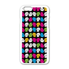Pattern Painted Skulls Icreate Apple Iphone 6/6s White Enamel Case