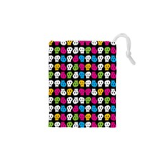 Pattern Painted Skulls Icreate Drawstring Pouches (xs)