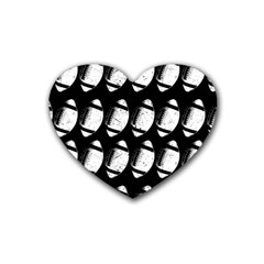 Footballs Icreate Rubber Coaster (heart)