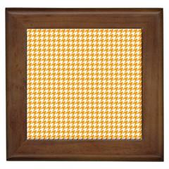 Friendly Houndstooth Pattern, Orange Framed Tiles