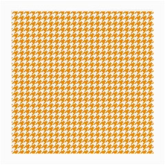 Friendly Houndstooth Pattern, Orange Medium Glasses Cloth (2 Side)