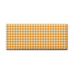 Friendly Houndstooth Pattern, Orange Cosmetic Storage Cases