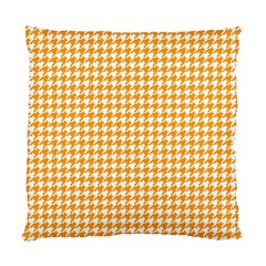 Friendly Houndstooth Pattern, Orange Standard Cushion Case (one Side)