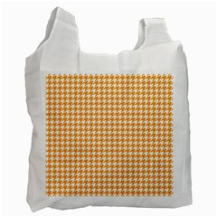 Friendly Houndstooth Pattern, Orange Recycle Bag (two Side)