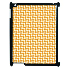 Friendly Houndstooth Pattern, Orange Apple Ipad 2 Case (black)