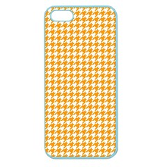 Friendly Houndstooth Pattern, Orange Apple Seamless Iphone 5 Case (color)