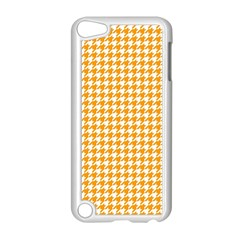 Friendly Houndstooth Pattern, Orange Apple Ipod Touch 5 Case (white)