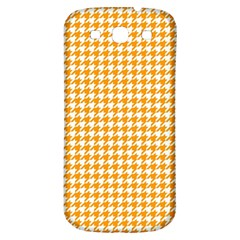 Friendly Houndstooth Pattern, Orange Samsung Galaxy S3 S Iii Classic Hardshell Back Case