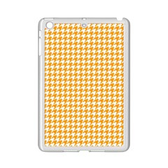 Friendly Houndstooth Pattern, Orange Ipad Mini 2 Enamel Coated Cases