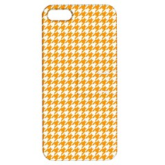 Friendly Houndstooth Pattern, Orange Apple Iphone 5 Hardshell Case With Stand