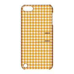 Friendly Houndstooth Pattern, Orange Apple Ipod Touch 5 Hardshell Case With Stand