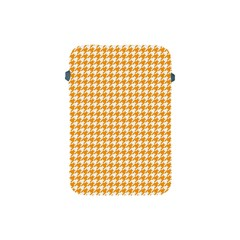 Friendly Houndstooth Pattern, Orange Apple Ipad Mini Protective Soft Cases