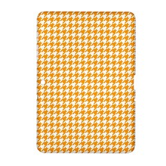 Friendly Houndstooth Pattern, Orange Samsung Galaxy Tab 2 (10 1 ) P5100 Hardshell Case