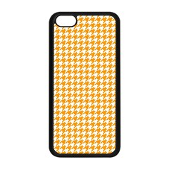 Friendly Houndstooth Pattern, Orange Apple Iphone 5c Seamless Case (black)