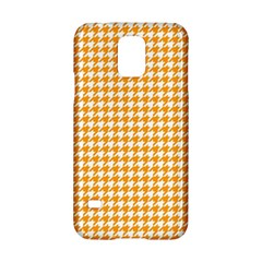 Friendly Houndstooth Pattern, Orange Samsung Galaxy S5 Hardshell Case