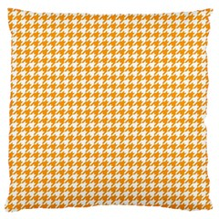 Friendly Houndstooth Pattern, Orange Standard Flano Cushion Case (two Sides)