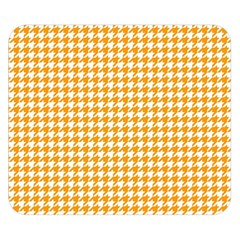 Friendly Houndstooth Pattern, Orange Double Sided Flano Blanket (small)