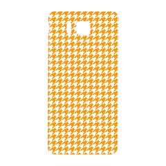 Friendly Houndstooth Pattern, Orange Samsung Galaxy Alpha Hardshell Back Case