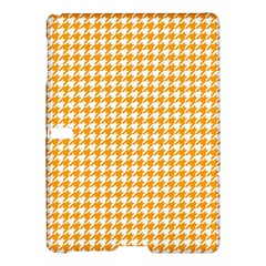 Friendly Houndstooth Pattern, Orange Samsung Galaxy Tab S (10 5 ) Hardshell Case