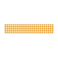 Friendly Houndstooth Pattern, Orange Flano Scarf (mini)