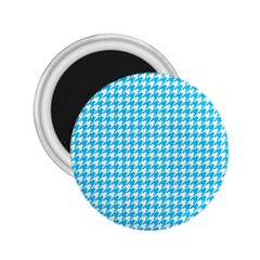 Friendly Houndstooth Pattern,aqua 2 25  Magnets