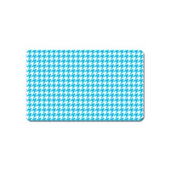Friendly Houndstooth Pattern,aqua Magnet (name Card)
