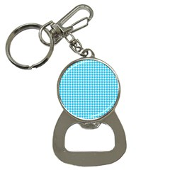Friendly Houndstooth Pattern,aqua Button Necklaces
