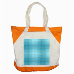 Friendly Houndstooth Pattern,aqua Accent Tote Bag