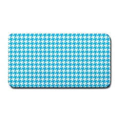 Friendly Houndstooth Pattern,aqua Medium Bar Mats