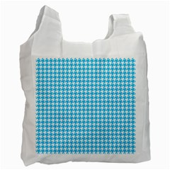 Friendly Houndstooth Pattern,aqua Recycle Bag (two Side)