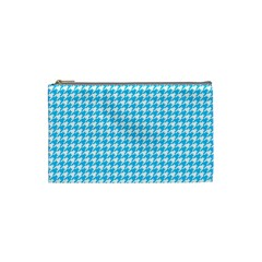Friendly Houndstooth Pattern,aqua Cosmetic Bag (small)