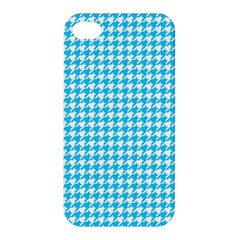 Friendly Houndstooth Pattern,aqua Apple Iphone 4/4s Hardshell Case