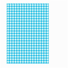 Friendly Houndstooth Pattern,aqua Large Garden Flag (two Sides)