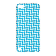 Friendly Houndstooth Pattern,aqua Apple Ipod Touch 5 Hardshell Case