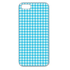 Friendly Houndstooth Pattern,aqua Apple Seamless Iphone 5 Case (clear)