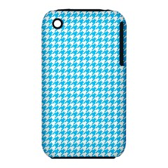 Friendly Houndstooth Pattern,aqua Iphone 3s/3gs