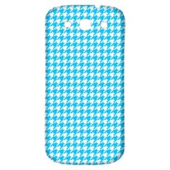 Friendly Houndstooth Pattern,aqua Samsung Galaxy S3 S Iii Classic Hardshell Back Case