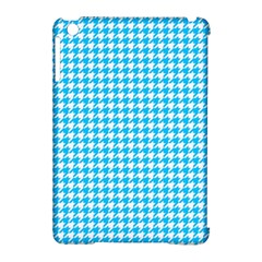Friendly Houndstooth Pattern,aqua Apple Ipad Mini Hardshell Case (compatible With Smart Cover)
