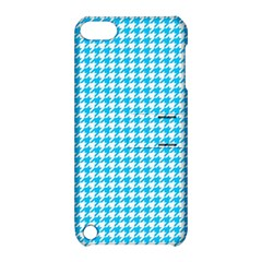 Friendly Houndstooth Pattern,aqua Apple Ipod Touch 5 Hardshell Case With Stand
