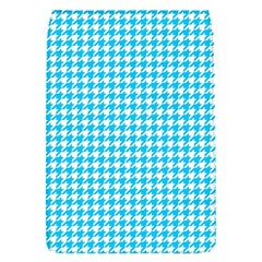 Friendly Houndstooth Pattern,aqua Flap Covers (s)