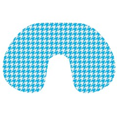 Friendly Houndstooth Pattern,aqua Travel Neck Pillows