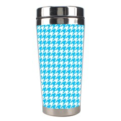 Friendly Houndstooth Pattern,aqua Stainless Steel Travel Tumblers