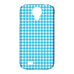 Friendly Houndstooth Pattern,aqua Samsung Galaxy S4 Classic Hardshell Case (pc+silicone)