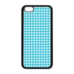 Friendly Houndstooth Pattern,aqua Apple Iphone 5c Seamless Case (black)