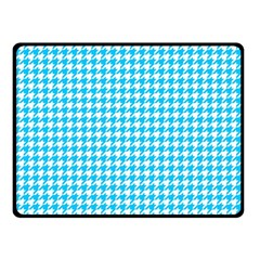 Friendly Houndstooth Pattern,aqua Double Sided Fleece Blanket (small)
