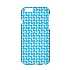 Friendly Houndstooth Pattern,aqua Apple Iphone 6/6s Hardshell Case