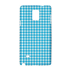 Friendly Houndstooth Pattern,aqua Samsung Galaxy Note 4 Hardshell Case