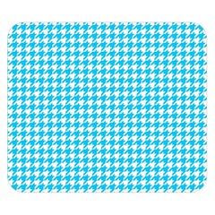 Friendly Houndstooth Pattern,aqua Double Sided Flano Blanket (small)