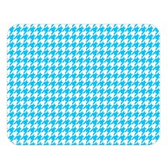 Friendly Houndstooth Pattern,aqua Double Sided Flano Blanket (large)