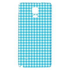 Friendly Houndstooth Pattern,aqua Galaxy Note 4 Back Case